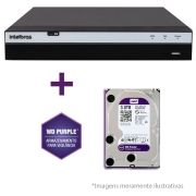 DVR Stand Alone Intelbras 3016 16 Canais Full HD 1080p Multi HD + 08 Canais IP 5 Mp + HD WD Purple 3TB