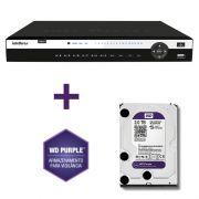 DVR Stand Alone Tríbrido HDCVI Intelbras HDCVI 1032 32 Canais + HD 2TB WD Purple de CFTV