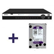 DVR Stand Alone Tríbrido HDCVI Intelbras HDCVI 3116 G2 16 Canais 1080p + HD 4TB WD Purple de CFTV