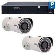 Kit 02 Câmeras de Segurança IP 1Mp HD 720p Intelbras VIP S 3020 G2 + NVD 1108 Intelbras, NVR, HVR