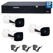 Kit 03 Câmeras de Segurança IP 1Mp HD 720p Intelbras VIP 1120 B + NVD 1108 Intelbras, NVR ,HVR