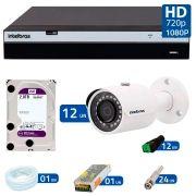 Kit 12 Câmeras de Segurança Full HD 1080p VHD 3230B G3 + DVR Intelbras Full HD + HD WD Purple 2TB + Acessórios