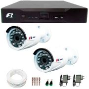 Kit 2 Câmeras de Segurança 1080N  Focusbras FS-MDF2M + DVR Focusbras 1080N + Acessórios