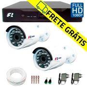 Kit 2 Câmeras de Segurança Full HD 1080p  Focusbras FS-MDF2M + DVR Focusbras Full HD + Acessórios