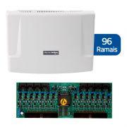 Kit Central de Interfone Condomínio com 96 Ramais, expansível até 112 ramais - Intelbras CP 112 + Placas Desbalanceadas