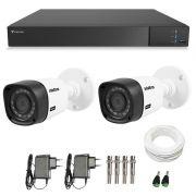 Kit CFTV 02 Câmeras Infra Full HD 1080p Intelbras VHD 1220 + DVR Tecvoz Flex Full HD + Acessórios