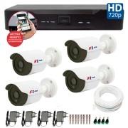 Kit CFTV 04 Câmeras Bullet Infra HD 720p FBR + DVR FBR + Acessórios
