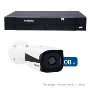 Kit CFTV IP 08 Câmeras Bullet Infra IP HD 720p Intelbras VIP 1120 B + NVR, HVR Intelbras NVD