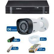 Kit CFTV 6 Câmeras Infra 720p Intelbras VHD 3120B G3 + DVR Intelbras Multi HD + Acessórios