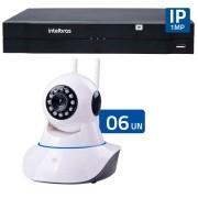 Kit 06 Câmeras de Segurança IP Sem Fio Wifi  HD 720p Robo Wireless + NVD 1108 Intelbras, NVR ,HVR