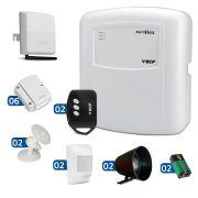 Kit de Alarme ECP 08 Sensores com Discadora Celular GSM ECP