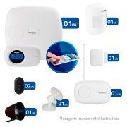 Kit de Alarme Intelbras 02 Sensores com Monitoramento Por Aplicativo via Internet - AMT 2018E