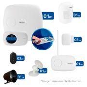 Kit de Alarme Intelbras 04 Sensores AMT 2018E com AMT Mobile