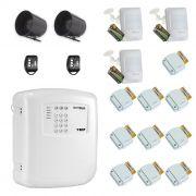 Kit de Alarme Residencial, Comercial com 13 Sensores sem fio ECP + 02 Controle Remoto, aviso de disparo por Telefone