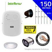 Kit de Cerca Elétrica para 150 metros Central Intelbras Liga/Desliga por Controle Remoto com Haste M + Acessórios
