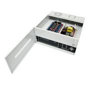 Rack Organizador Mini Iron House 1G Onix, 16 Canais, Placa Organizadora, Filtro de Ruído, Pintura Epóxi Branca.* Acompanha Cabo