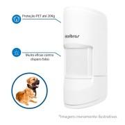 Sensor de Alarme Infravermelho Passivo Sem Fio IVP 4101 PET Smart - Até 20 Kg Intelbras