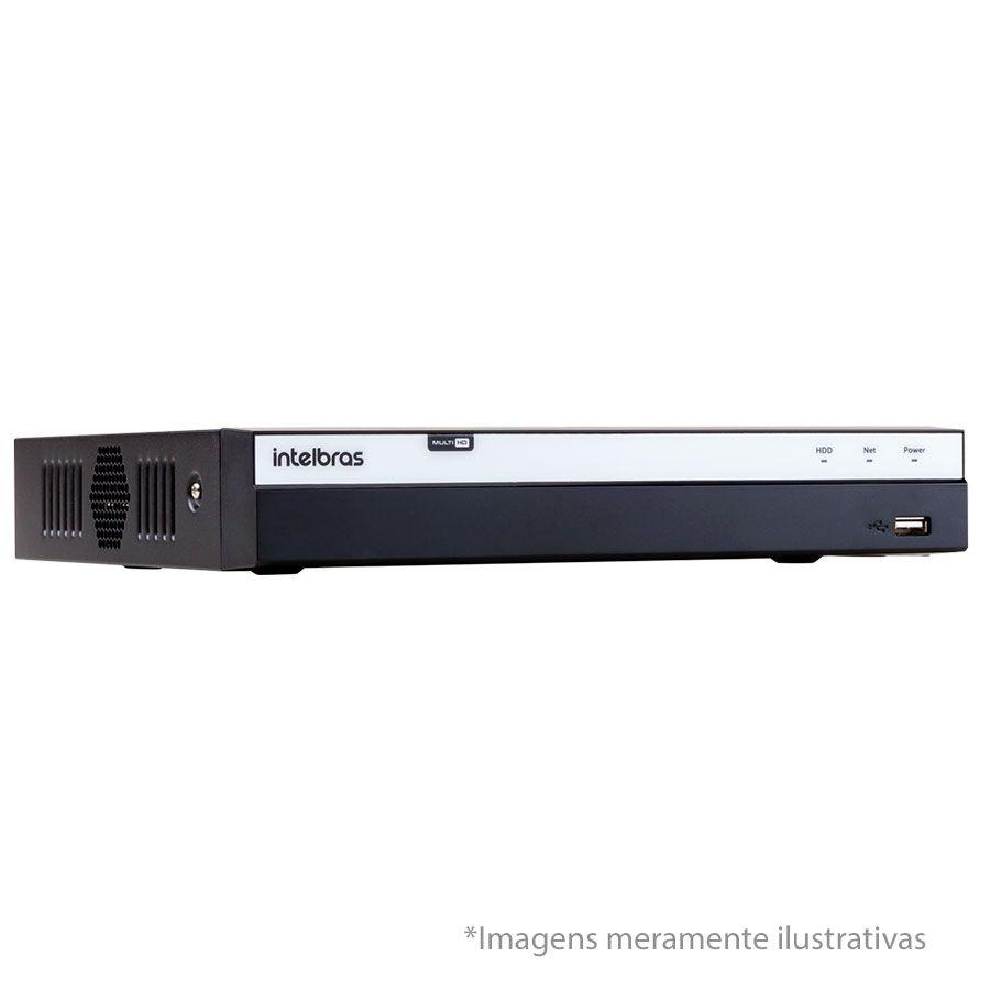 DVR Stand Alone Intelbras MHDX 3004 04 Canais Full HD 1080p Multi HD + 02 Canais IP 5 Mp