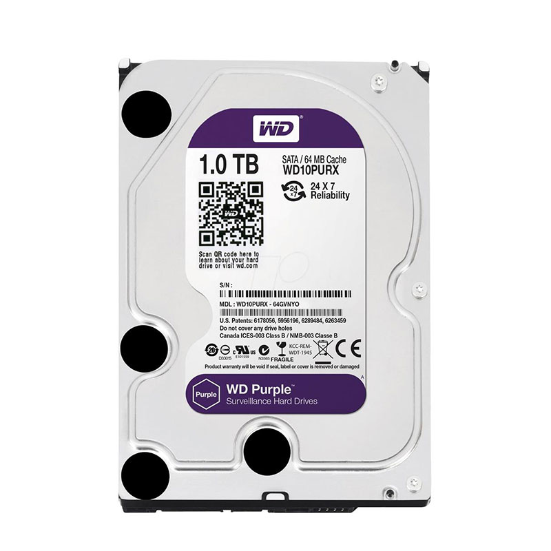 DVR Stand Alone Multi HD Intelbras MHDX-1016 16 Canais + HD 1TB WD Purple de CFTV (Não instalado)