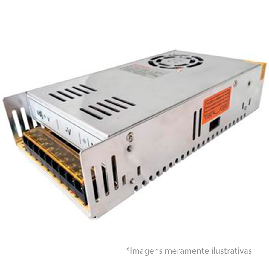 Fonte Chaveada 12V 20A Tipo Colméia, Ideal para CFTV