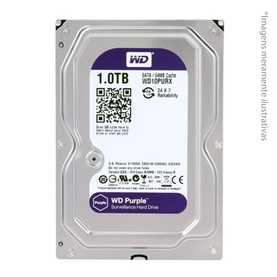 Kit 2 Câmeras de Segurança HD 720p Intelbras VHD 1120B G3 + DVR Intelbras Multi HD + HD WD Purple 1TB + Acessórios