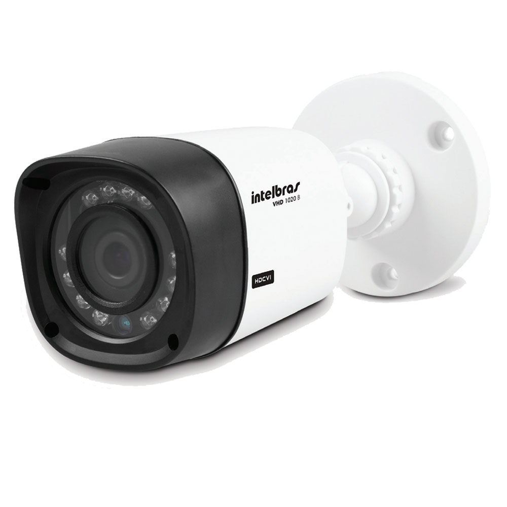 Kit 4 Câmeras de Segurança HD 720p Intelbras VHD 1120B G3 + DVR Intelbras Multi HD + HD WD Purple 1TB + Acessórios