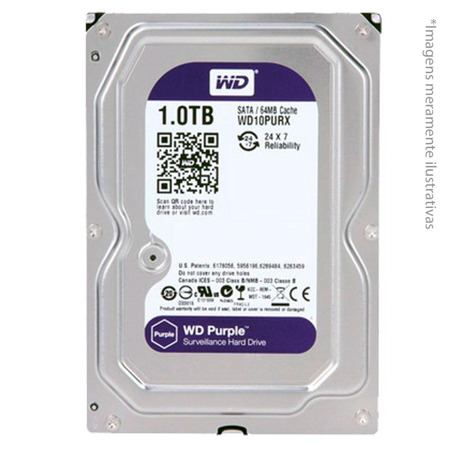 Kit 2 Câmeras de Segurança Full HD 1080p VHD 3230B G3 + DVR Intelbras Full HD + HD WD Purple 1TB + Acessórios