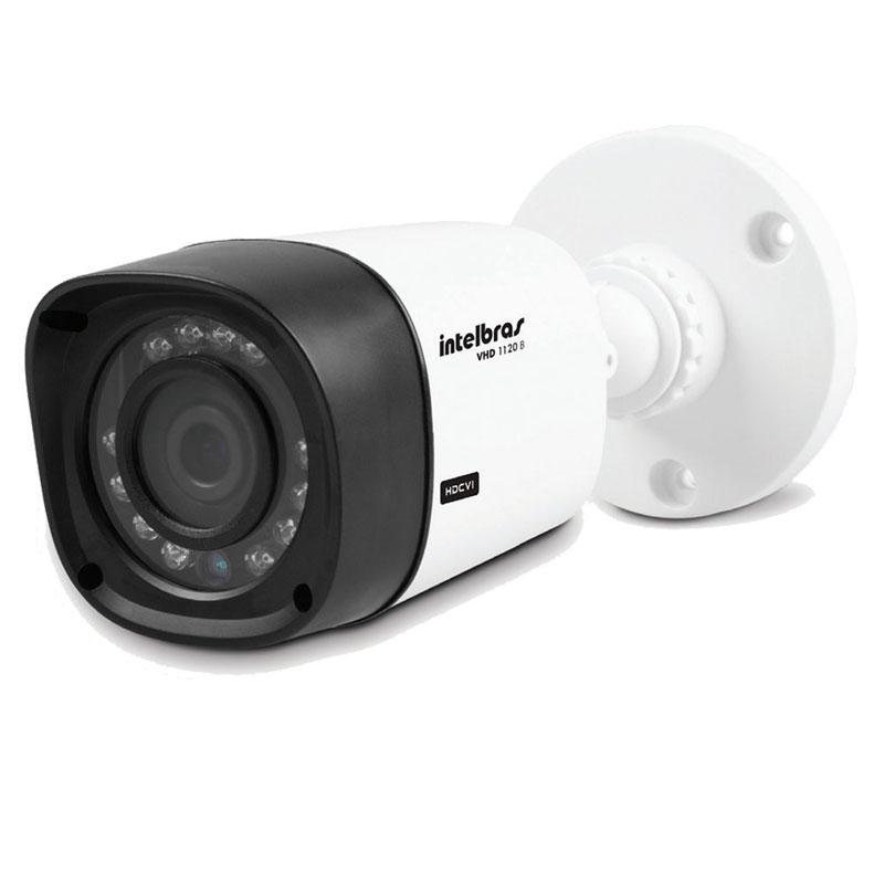 Kit 8 Câmeras de Segurança HD 720p Intelbras VHD 1120B G3 + DVR Intelbras Multi HD + Acessórios