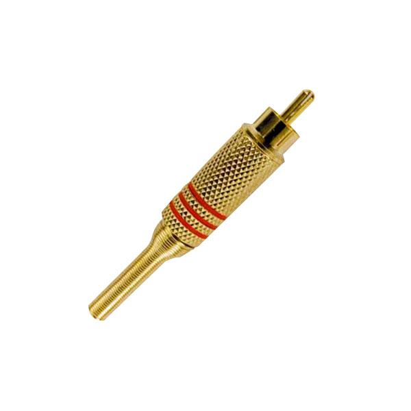 Plug Security Parts RCA Macho Dourado Mola 6MM