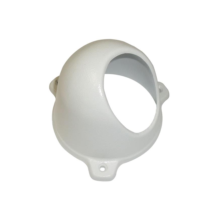 Protetor para Câmera Mini Dome Com Infra Branco Anti-Vandalismo Bulher