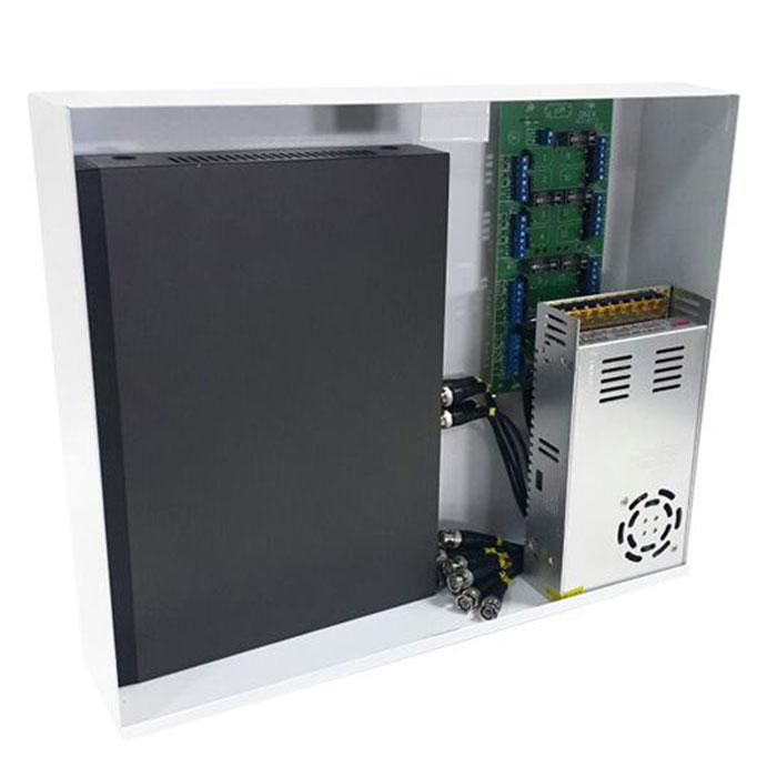 Rack Mini Orion HD 3000 Organizador de Cabos Onix Security Para DVR 4 Canais - Compatível c/ Todos DVRs HDCVI / TVI / AHD