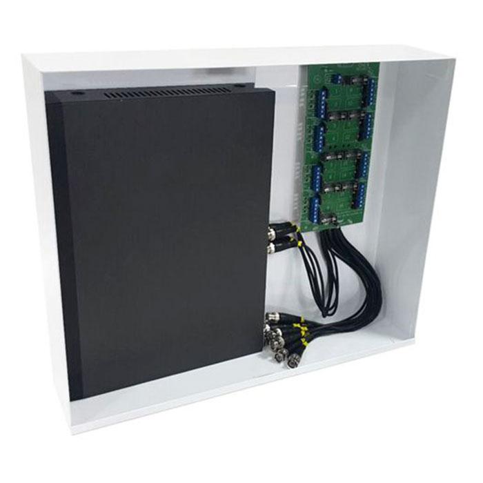 Rack Mini Orion HD 3000 Organizador de Cabos Onix Security Para DVR 8 Canais - Compatível c/ Todos DVRs HDCVI / TVI / AHD