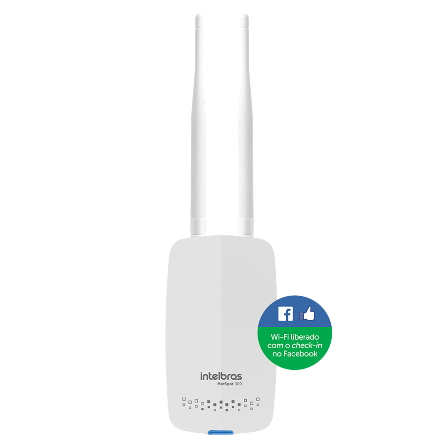 Roteador Wireless Intelbras HotSpot 300 Libera Acesso Após Check-In no Facebook