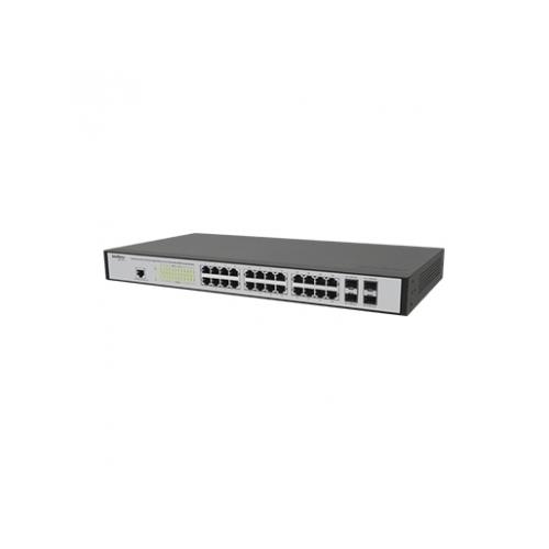 Switch 24 Portas Gigabit Gerenciável Intelbras SG 2404 MR