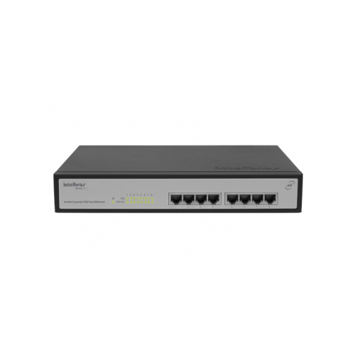 Switch 8 Portas Intelbras PoE Fast Ethernet SF 802 AF