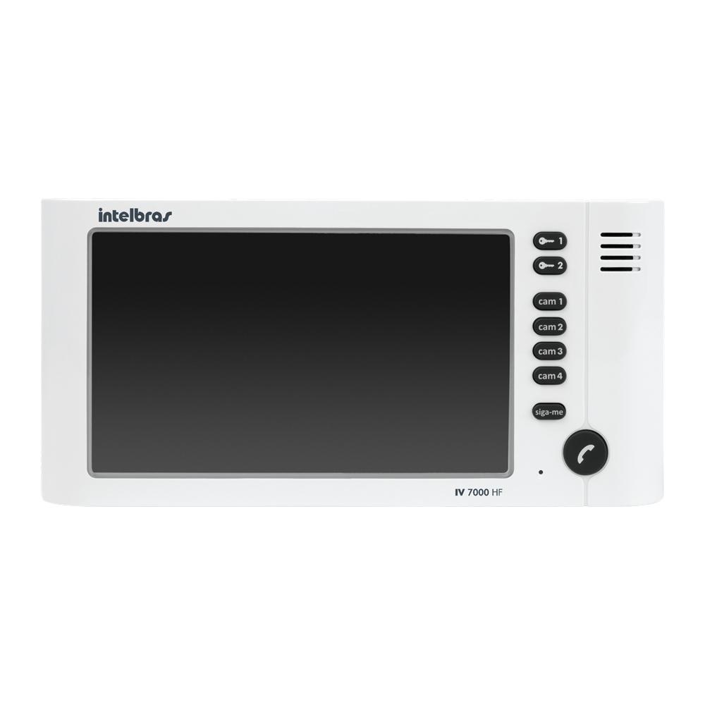 Video Porteiro Intelbras IV 7000HF, 2 Saidas para Fechadura, Suporta 4 Canais de Video, Viva-Voz, Câmera Externa Oculta com Infravermelho
