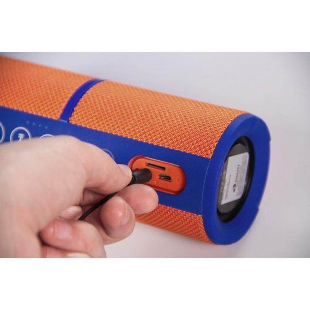 Caixa De Som Resistente A Água Com Bluetooth Laranja Pulse - SP246
