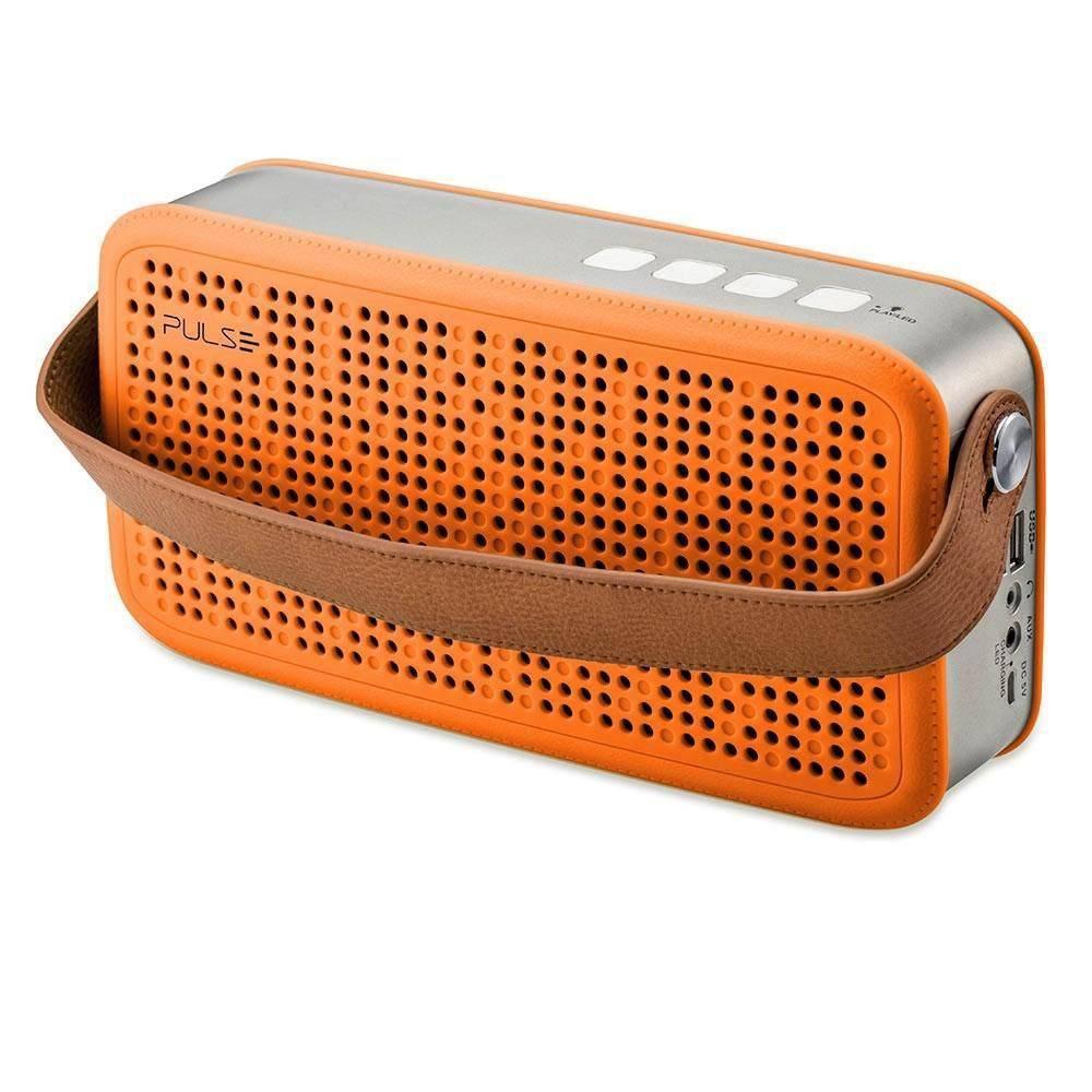 Caixa De Som Pulse Portátil Hands Free Bluetooth, USB E P2 - 20 Watts Rms Laranja Sp249
