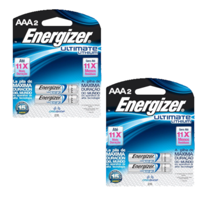 Conjunto com 4 Pilhas Energizer Ultimate Lithium AAA - Energizer