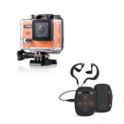 MP3 Player à Prova Dágua + Câmera De Ação Digital Full Sport Hd 720P 5Mp Dc186 Átrio