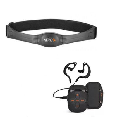 MP3 Player Sport à Prova Dágua + Cinta Cardíaca Bluetooth Es055 -  Atrio