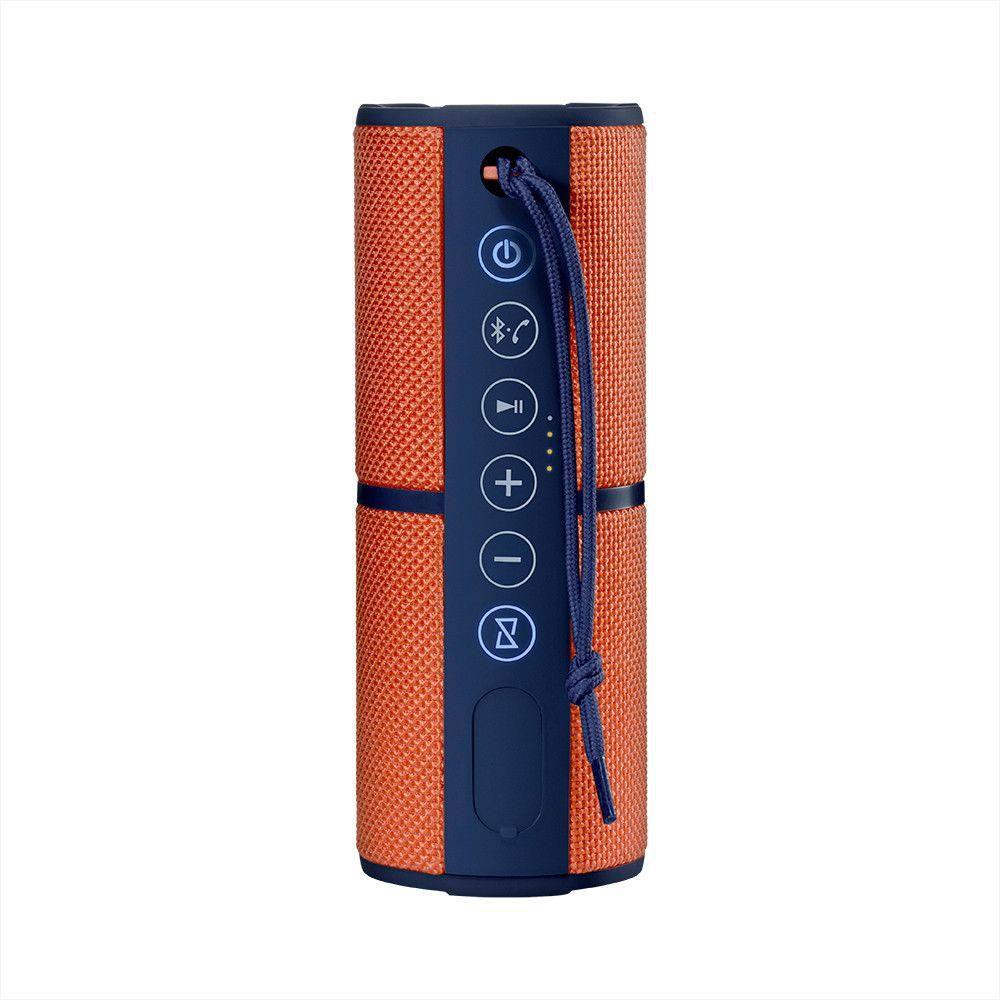 Relógio Smartwatch SW1 Bluetooth + Caixa de Som Portátil Pulse Speaker SP246 Waterproof Bluetooth 15W Laranja