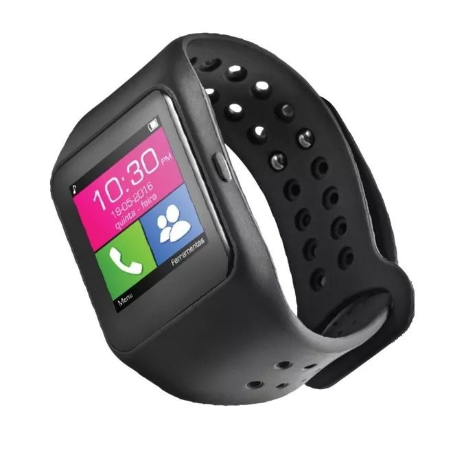 Relógio Smartwatch SW1 Bluetooth + Caixa de Som Portátil Pulse Speaker SP246 Waterproof Bluetooth 15W Laranja