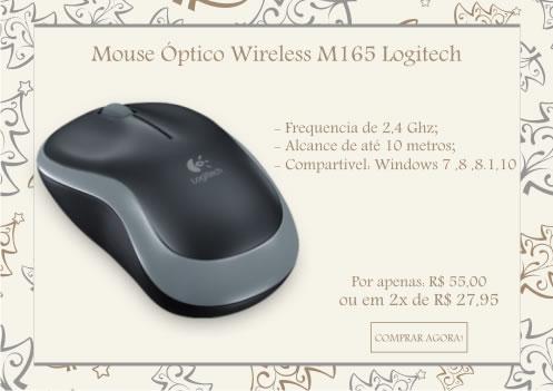 Mouse Óptico Wireless M165 Logitech