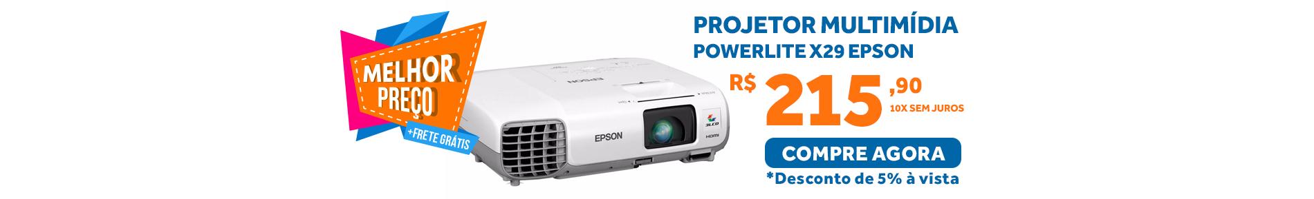 projetor multimÍdia powerlite x29 epson