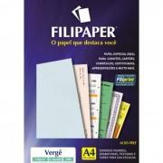 Papel Verge Azul Claro A4 120g C/ 50 Fls 02205 Filipaper