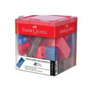 Apontador C/ Depósito CX. C/ 25 Un. Glitz Sortido Faber-Castell - PORT - Informática - Escritório - Papelaria