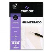 Bloco Milimetrado A4 C/ 50 Fls 21x29,7cm 66667083 Canson - PORT - Informática - Escritório - Papelaria