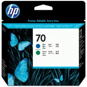 Cabeça de Impressão HP 70 C9408A Azul e Verde
