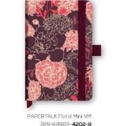 CADERNETA OTIMA PAPERTALK FLORAL NINI 80 FLS 92X137MM REF.4202-8